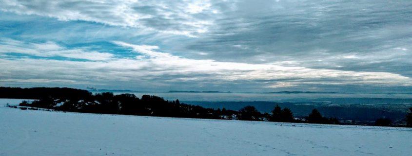 Inversionswetterlage im Neckartal